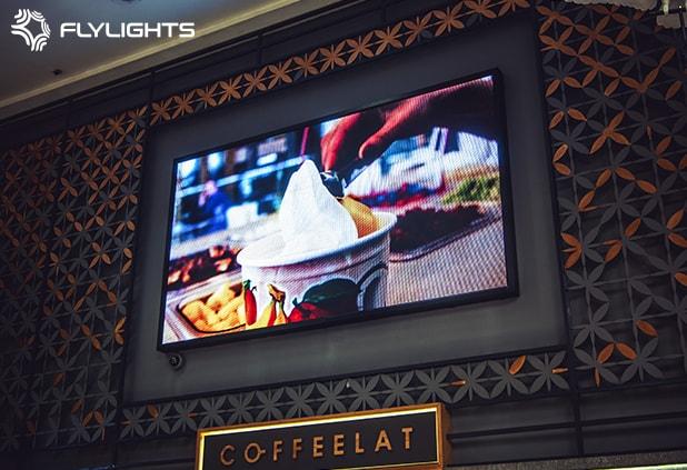 Flylights – LED-екран для кав'ярні Coffeelat